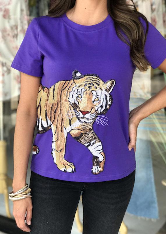 Sparkle City Wrap Around Purple Tiger Tee