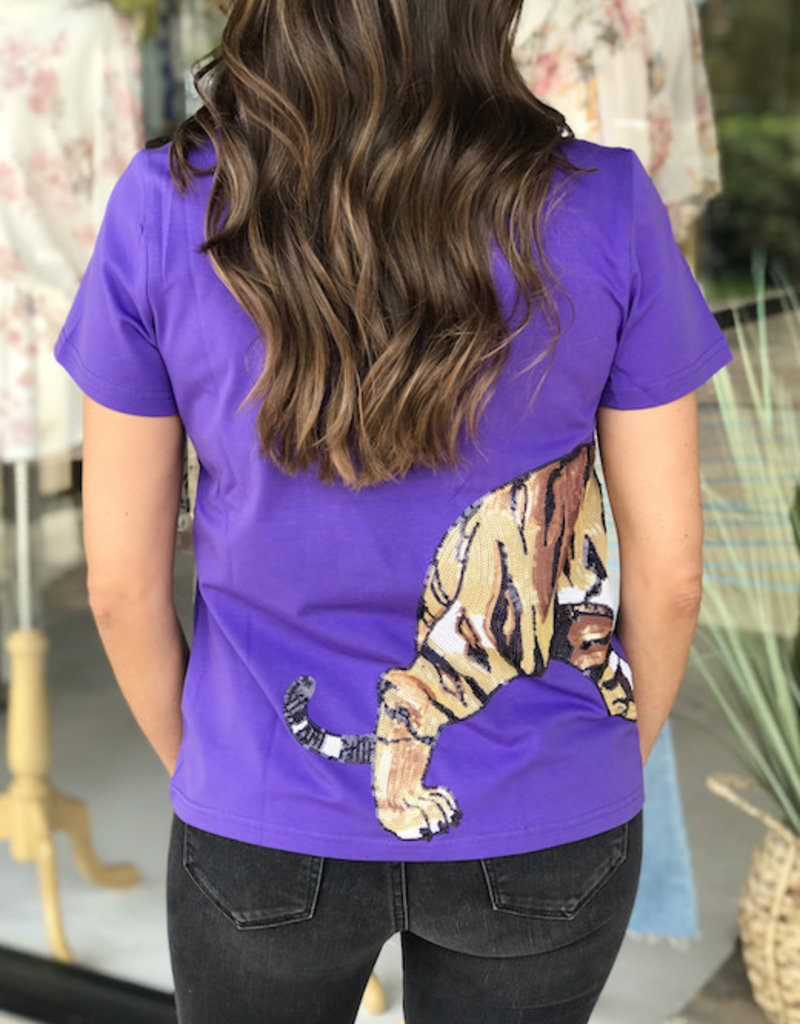 Sparkle City Wrap Around Purple Tiger Tee