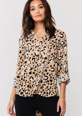 Velvet Heart Elisa Tan Leopard Top