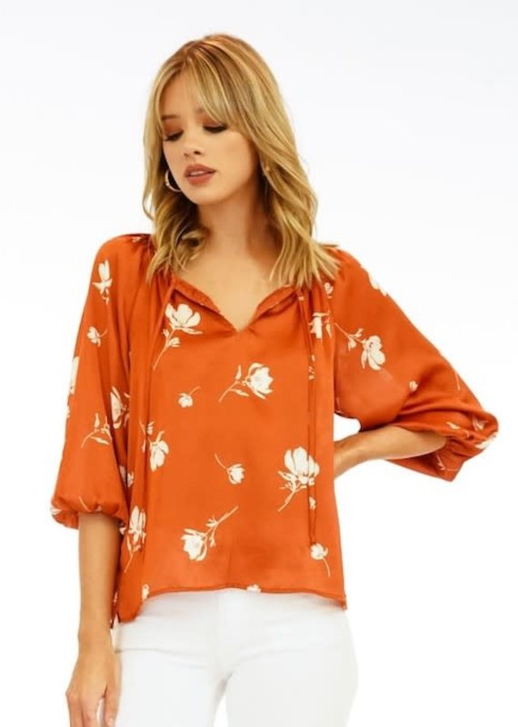 Veronica M Hawking Floral Blouse