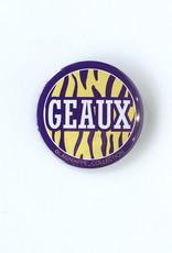 Geaux Stripes Button