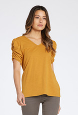 Dear John Charon Ruched Sleeve Top