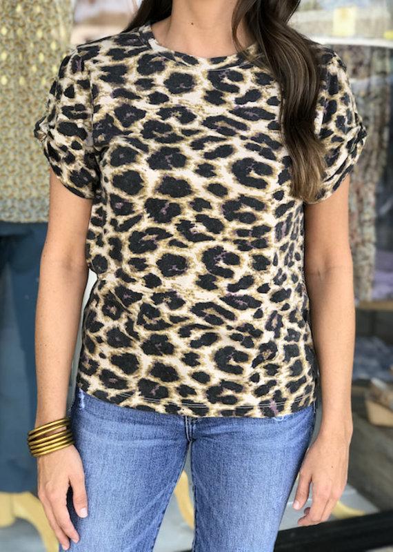 Cheetah Puff Sleeve Top