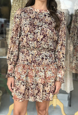 Moodie Mixed Floral Mini Dress
