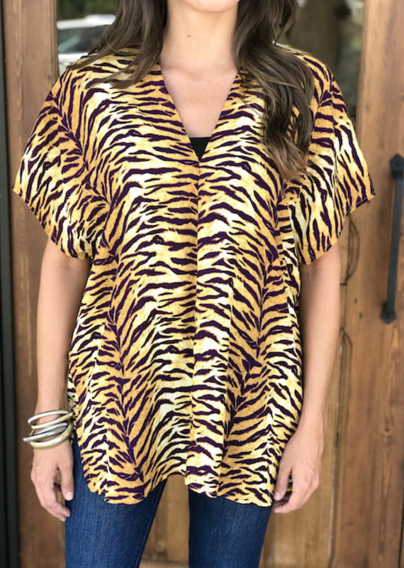 Tiger Stripes V-Neck Blouse