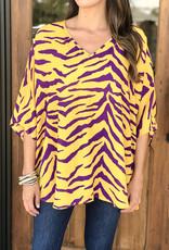 Tiger Stripe Oversized Top