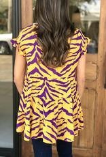 Tiger Stripes Babydoll Top
