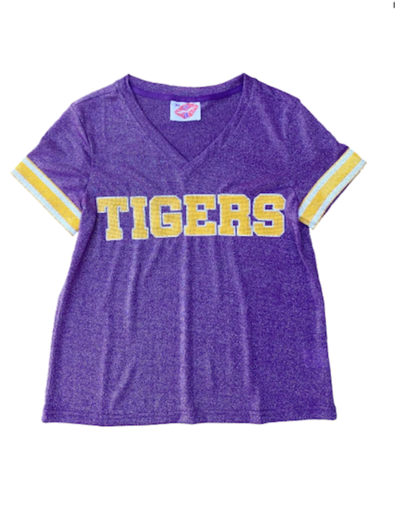 Sparkle City Tigers Glitter Sequin Jersey Tee