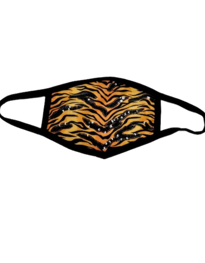 Sparkle City Glam Tiger Stripe Mask