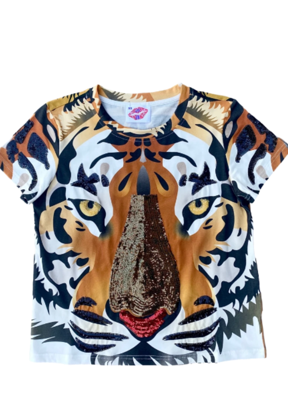 Sparkle City Fancy Face Tiger Tee