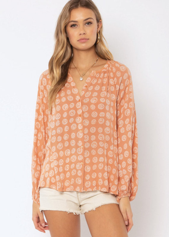 Amuse Society Charmer Woven Blouse