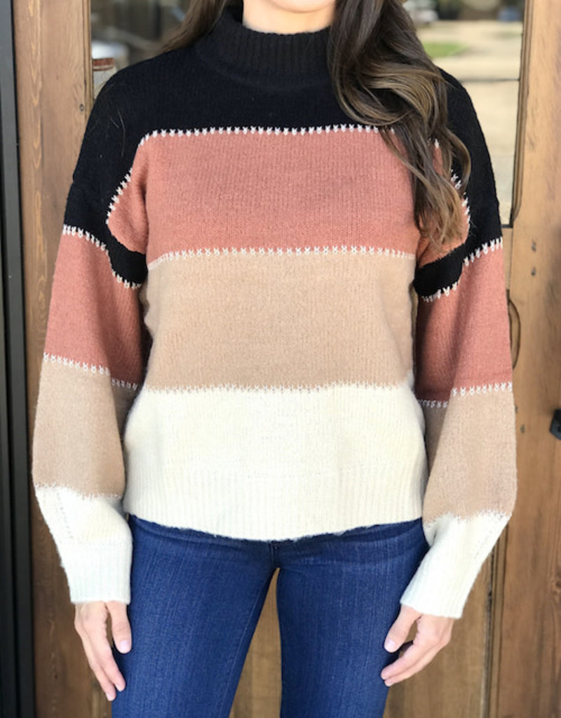 Scenic Drive Colorblock Sweater