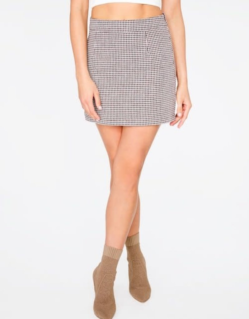 Brown Houndstooth Mini