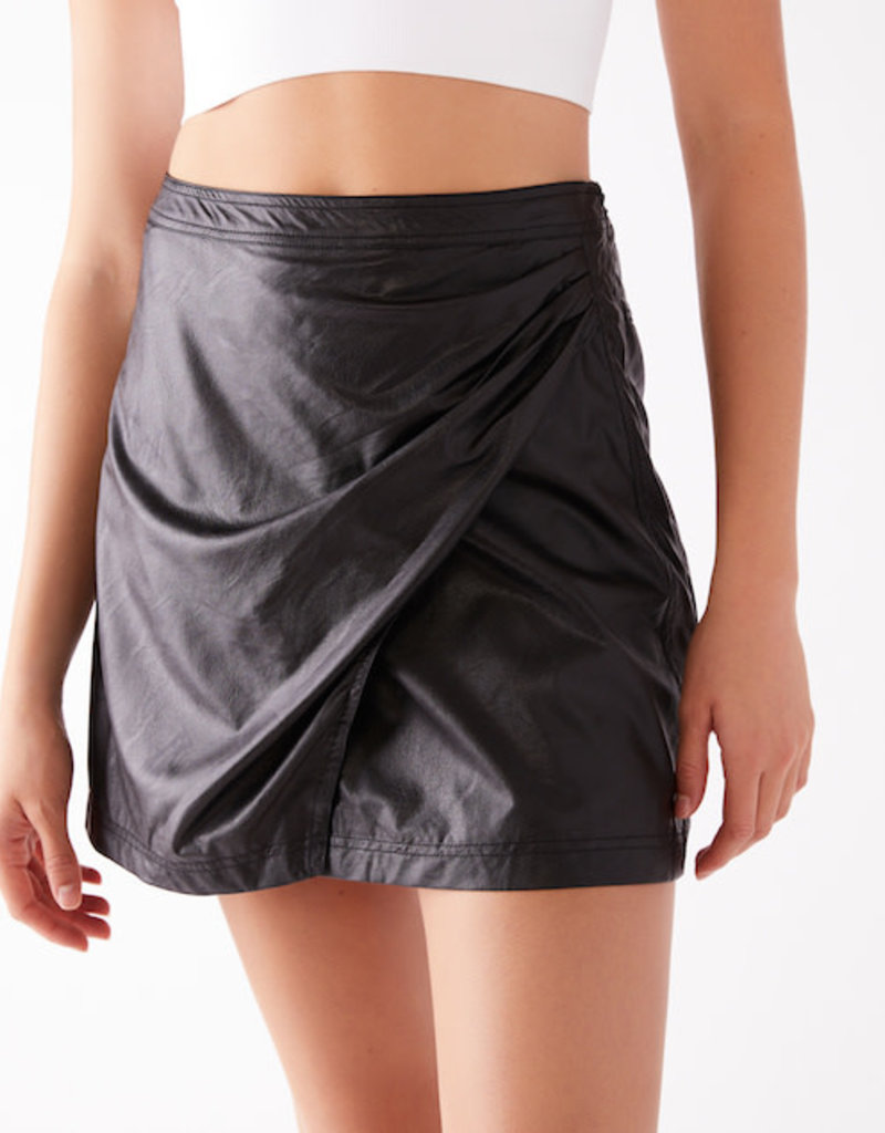 Free People Fake Out Faux Wrap Skirt