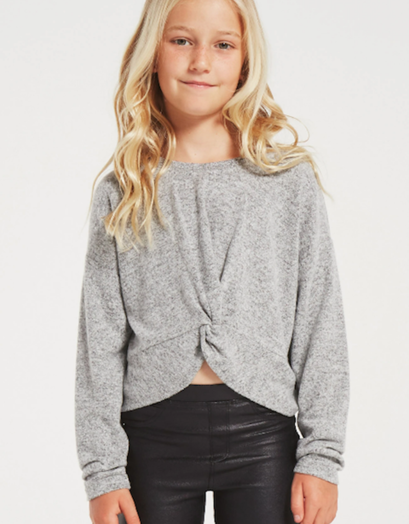 Z Supply Girls Harper Marled Top