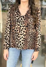 Veronica M Jennings Leopard Blouse