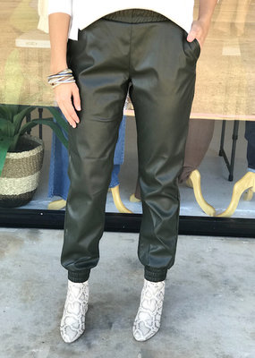 Cassie Faux Leather Jogger