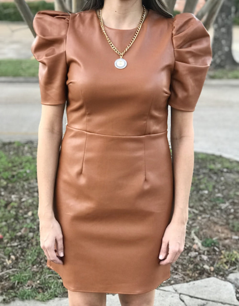 Lucky Lady Faux Leather Dress