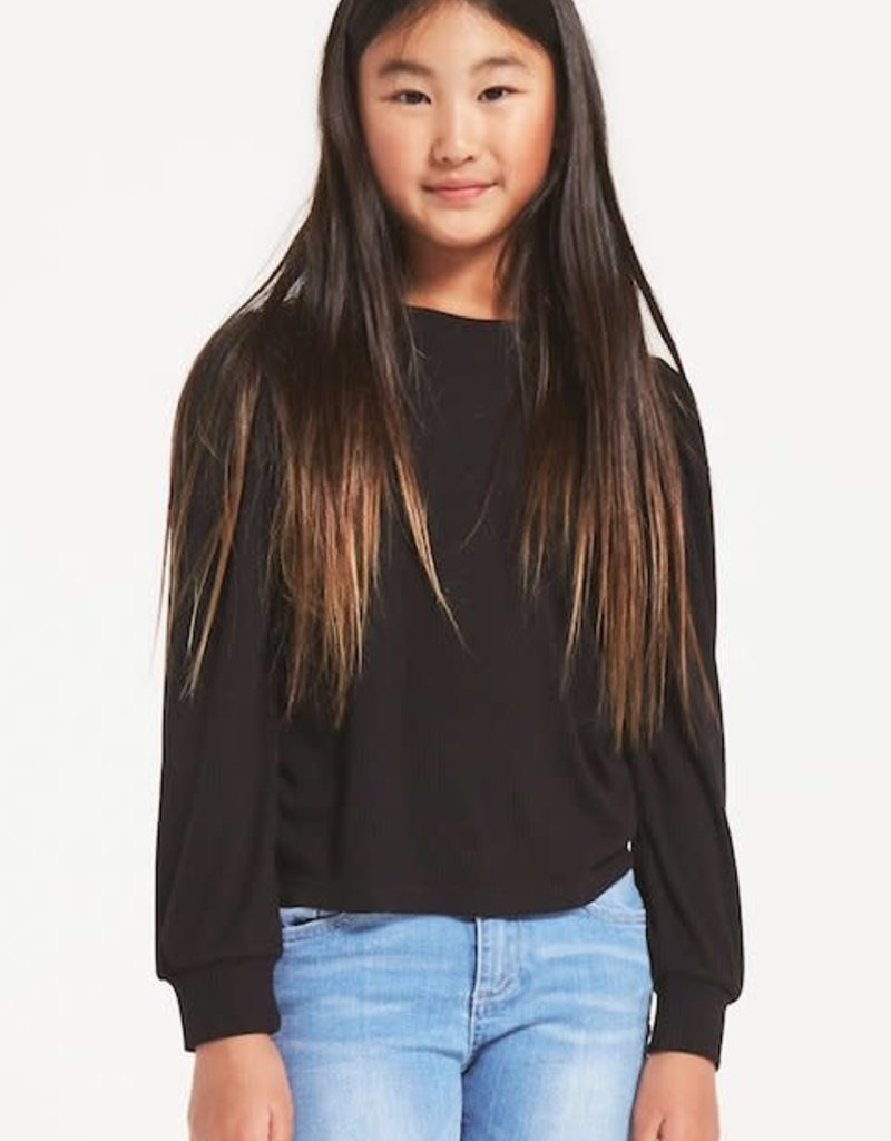 Z Supply Girls Sasha Puff Top