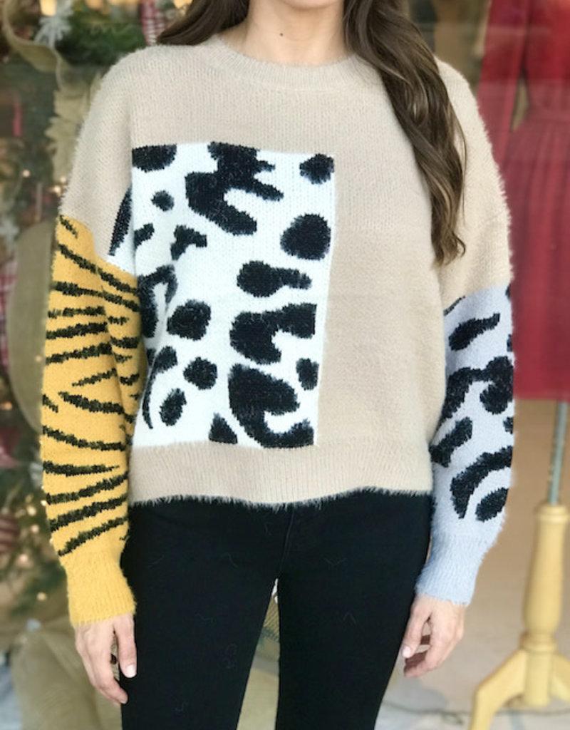 Safari Combo Sweater