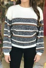 Sage the Label Alden Striped Sweater