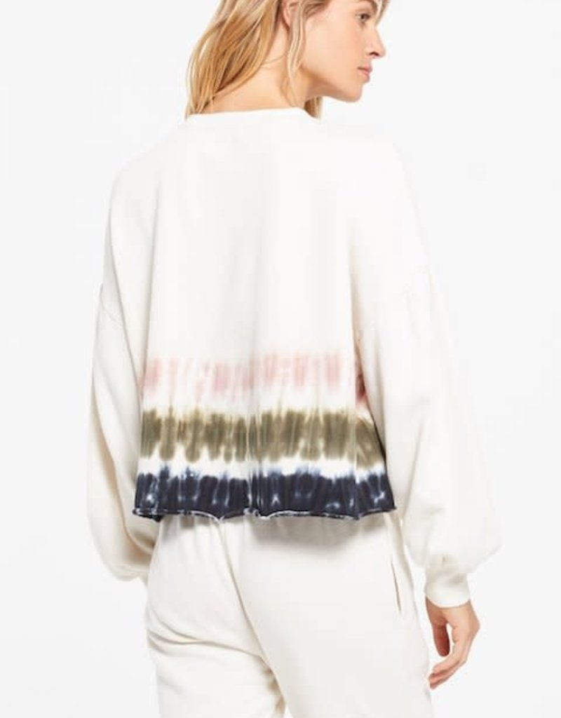 Z Supply Tempest Stripe Tie-Dye Pullover