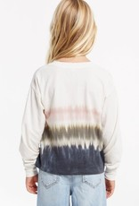 Z Supply Girls Kaiya Stripe Tie-Dye Pullover
