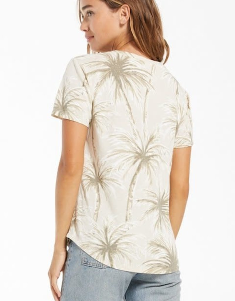 Z Supply Coconut Palm V-Neck Tee