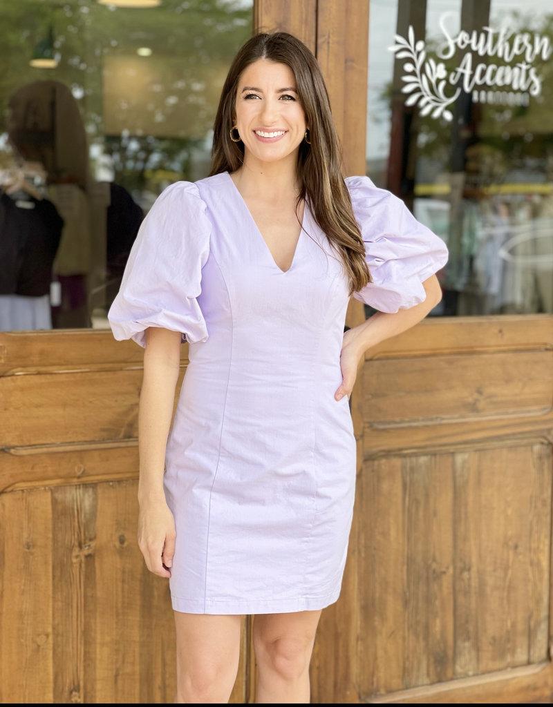 Reagan Puff Sleeve Mini Dress