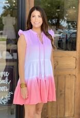 Karlie Tie Dye Gauze Dress