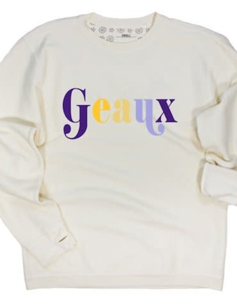 Geaux Corded Crew Pullover