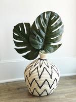 Zig Zag B/W Vase