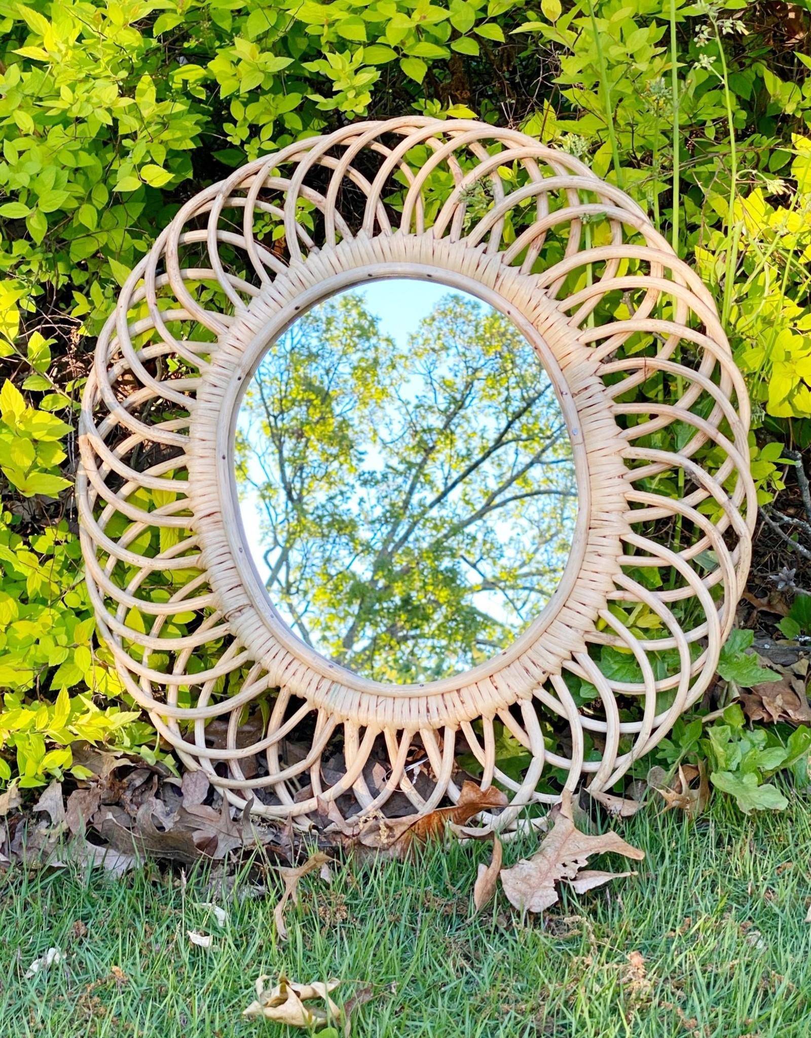 Woven Bamboo Wall Mirror