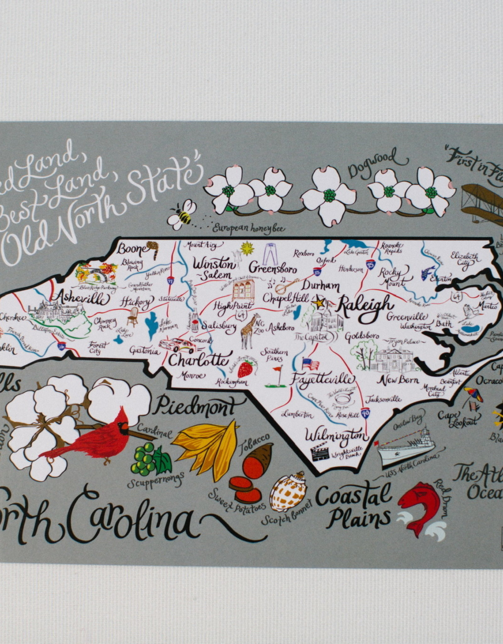 Emily Brooks EB NC Map Print