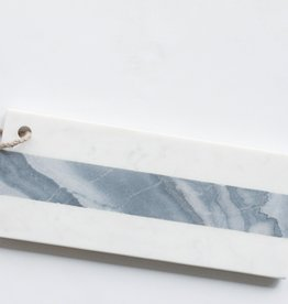 White & Grey Small Marble Rectangular Board
