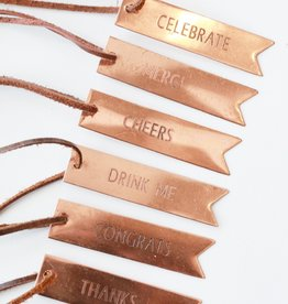 Rose Gold Bottle Tag