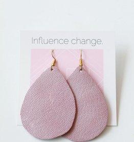Designed for Joy DFJ Simple Leather Teardrop Earrings
