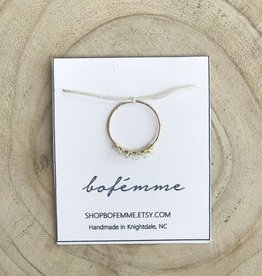 Bofemme Bofemme Raw Herkimer Diamond Ring