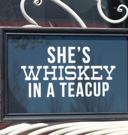 Whiskey in A Teacup Framed