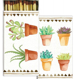 Watercolor Succulents Matches