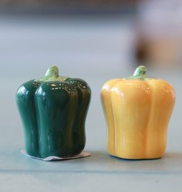 Pam Pusateri Vintage Peppers Salt and Pepper Shakers