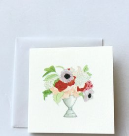 Karen Adams Vase of Flowers Mini Card