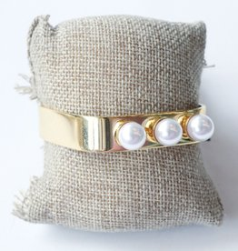 Tri Pearl Bangle