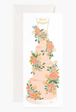 Tall Wedding Cake No 10 Card