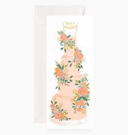 Tall Wedding Cake No 10 Card
