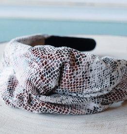 Snake Skin Knot Headband