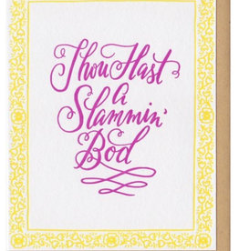 Frog and Toad Slammin Bod Card