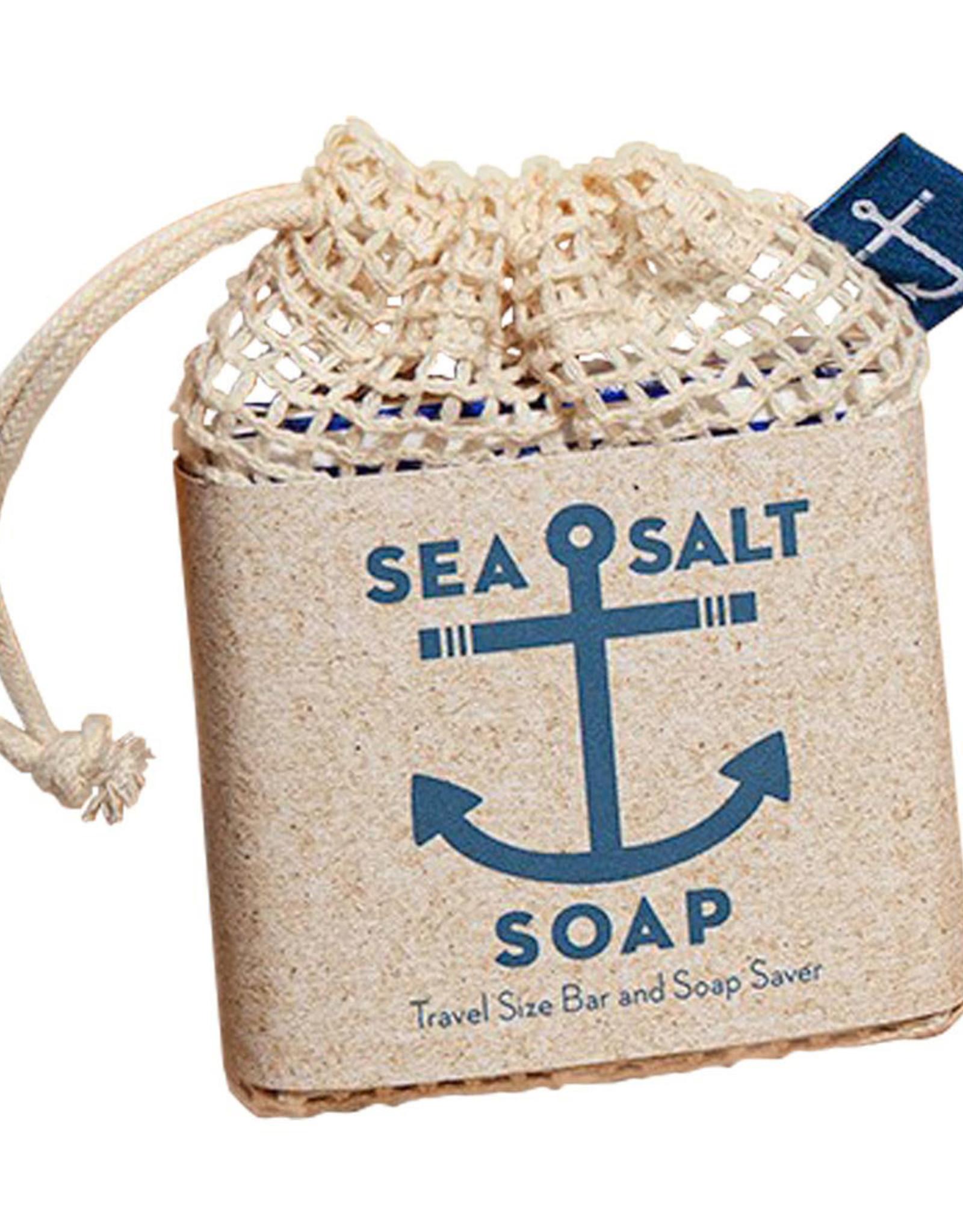Sea Salt Travel Soap and Soap Saver