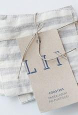 S/4 Linen Coasters