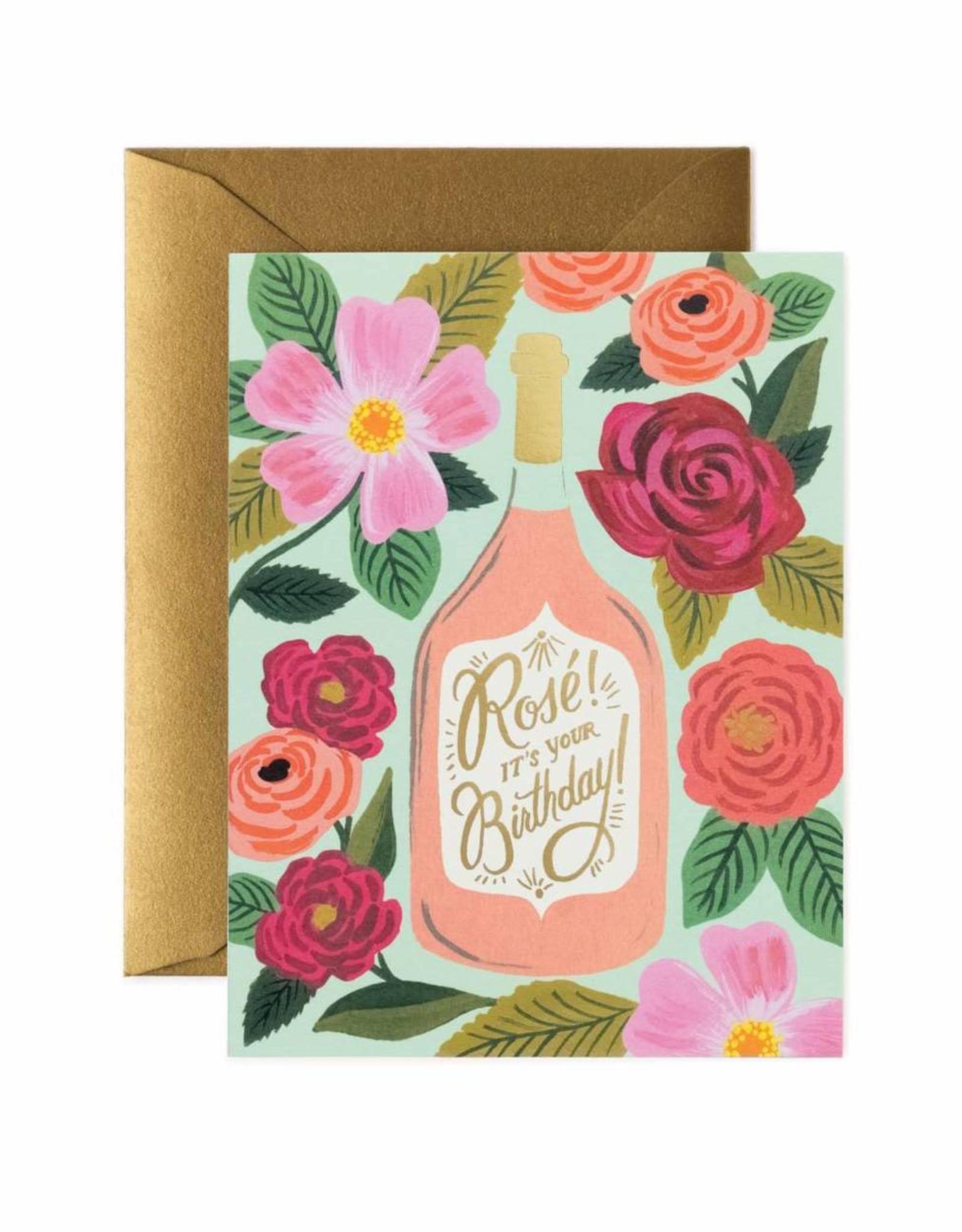 Rosé it's Your Birthday Card